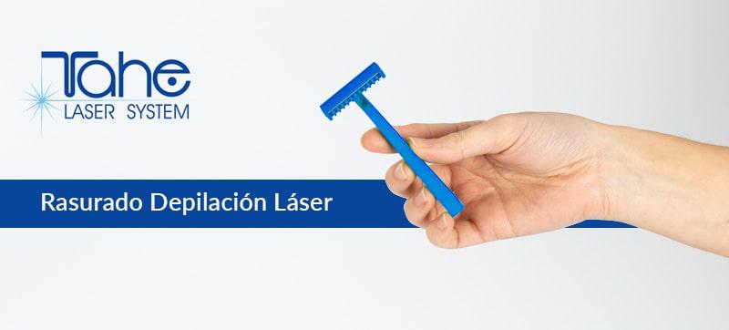 rasurar depilación láser